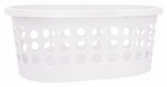 Wäschekorb Springfield Weiß - Weiß, Kunststoff (39/59/24cm) - Mömax modern living