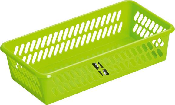 Košara Mimi - svetlo zelena, umetna masa (20,1/4,9/10,3cm) - Mömax modern living