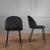 Stuhl Selina - Schwarz, MODERN, Textil/Metall (48,5/78/54cm) - Bessagi Home
