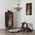 Highboard mit Katzenprint - Multicolor/Schwarz, LIFESTYLE, Holz/Holzwerkstoff (50/130/38cm) - Modern Living