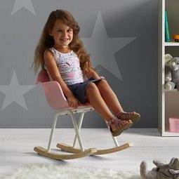 Kinder-schaukelstuhl Bobby - Rosa, MODERN, Holz/Kunststoff (41,5/60/54cm) - Mömax modern living
