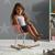 Kinderschaukelstuhl Bobby - Rosa, MODERN, Holz/Kunststoff (41,5/60/54cm) - Bessagi Kids
