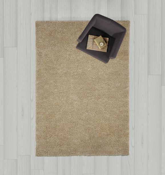 Hochflorteppich Shaggy 160x230 cm - Beige, MODERN, Textil (160/230cm) - Mömax modern living