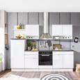 Bucătărie Welcome Spice - alb/negru, Modern, compozit lemnos (270/204/60cm)