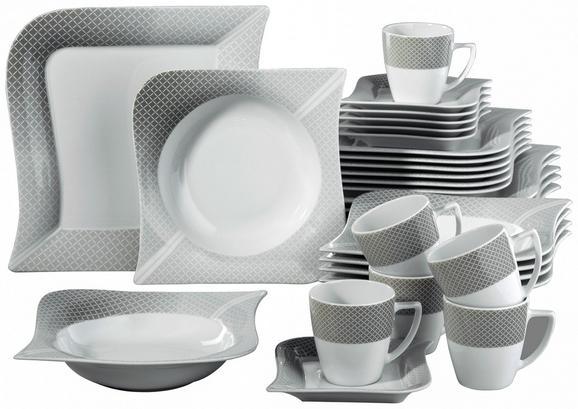 Kombiservice Moonlight - Weiß/Grau, Keramik (36/33/28,5cm) - Mömax modern living
