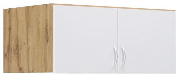 Aufsatzschrank in Eichefarben - Eichefarben/Alufarben, MODERN, Holzwerkstoff/Kunststoff (91/39/54cm) - Modern Living