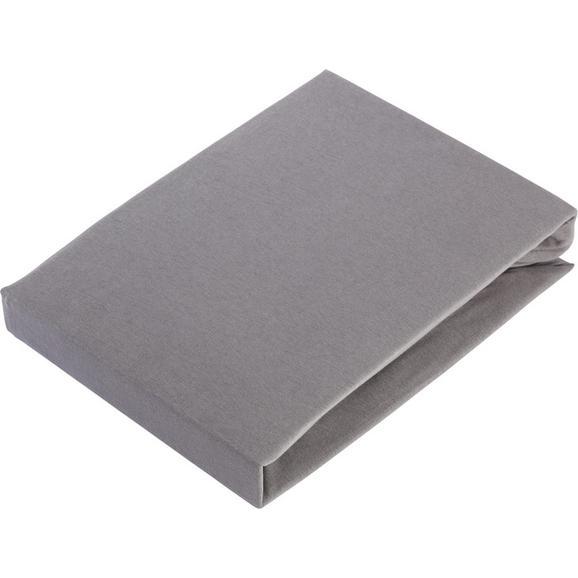 Gumis Lepedő Basic 150-160/200 - Szürke, Textil (150/200cm) - Mömax modern living
