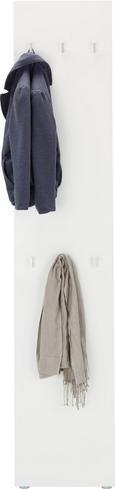 Garderobe Weiß - Weiß, MODERN, Holzwerkstoff (40/197/32cm) - Mömax modern living