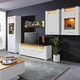 Hängeelement in Weiß Hochglanz - Chromfarben/Eichefarben, MODERN, Holzwerkstoff/Metall (60/98,5/30cm) - Modern Living