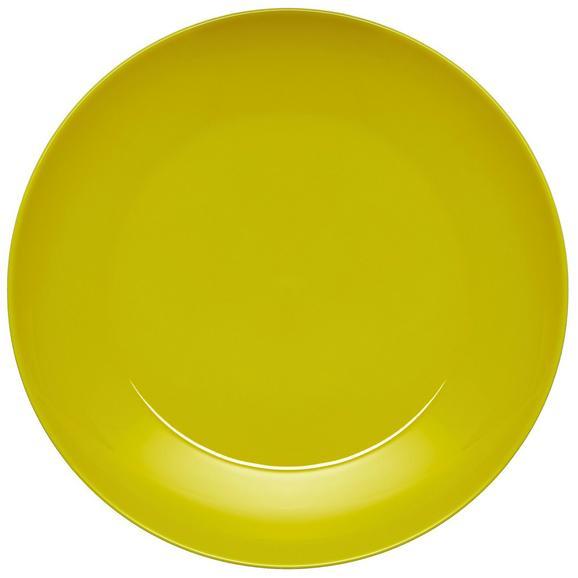 Plitvi Krožnik Sandy - rumena, Konvencionalno, keramika (26,8/2,42cm) - Mömax modern living