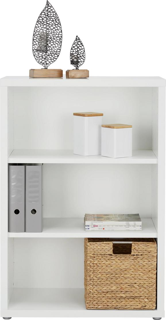 Regal Weiß - Alufarben/Weiß, MODERN, Holzwerkstoff/Kunststoff (78/115/37cm) - Premium Living