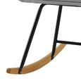 Schaukelstuhl Cameron - Hellgrau, MODERN, Holz/Textil (58/80/69cm) - Modern Living