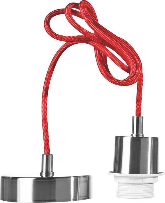 Függeszték Ancona - Nikkel/Piros, Műanyag/Fém (120cm)