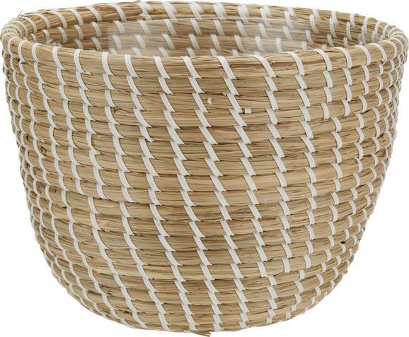 Cvetlični Lonček Luis - M - bela/rjava, umetna masa/ostali naravni materiali (26/19cm) - Mömax modern living