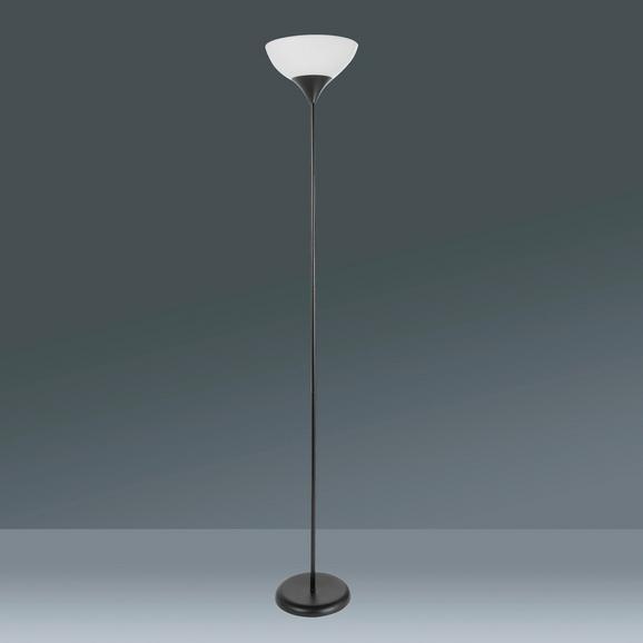 Stehleuchte Vanessa, max. 60 Watt - Schwarz/Weiß, KONVENTIONELL, Kunststoff/Metall (28/175cm) - Based