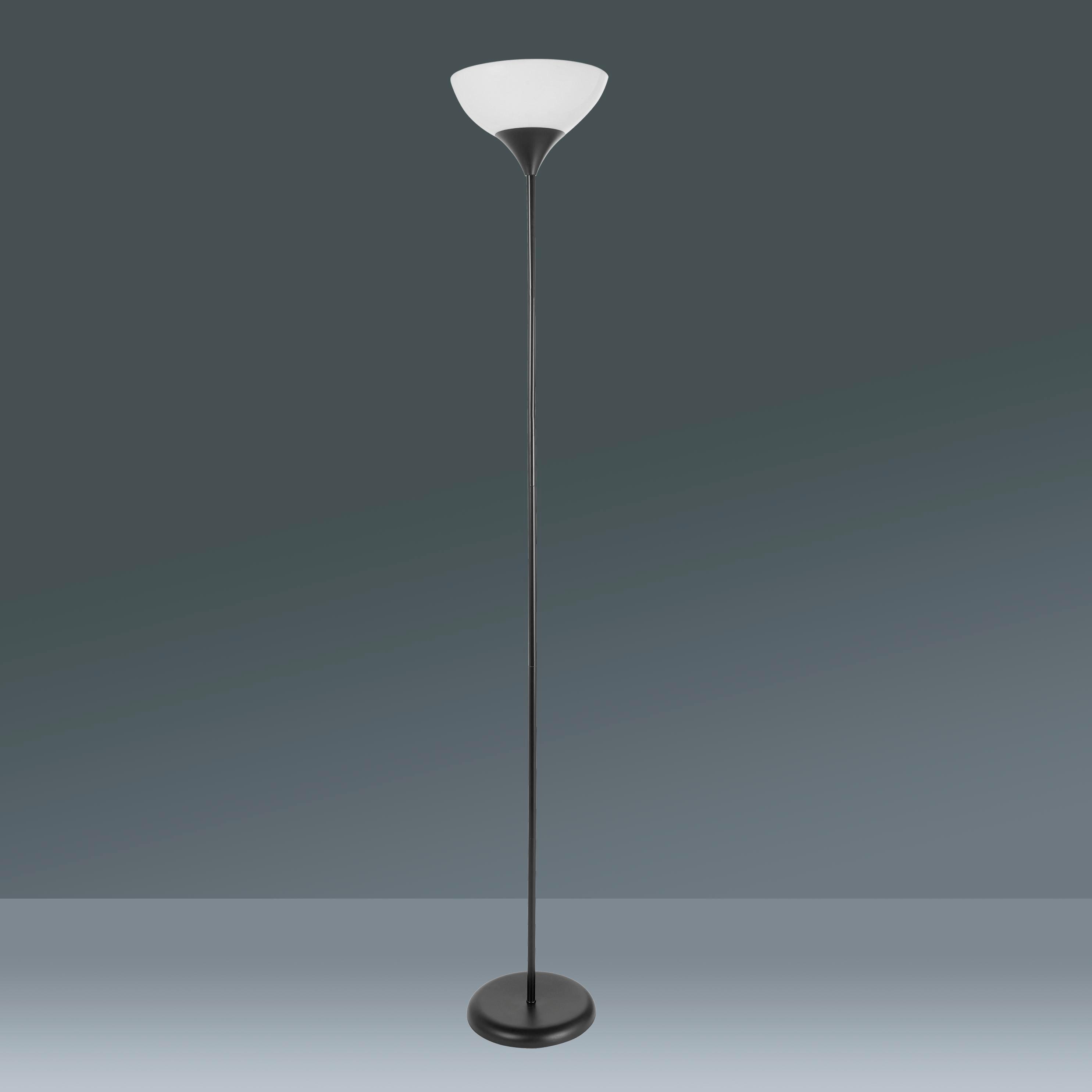 Stehleuchte Vanessa, max. 60 Watt - Schwarz/Weiß, KONVENTIONELL, Kunststoff/Metall (28/175cm) - MÖMAX modern living