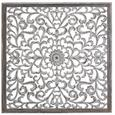 Wanddeko Marbella Weiß/Grau - Weiß/Grau, LIFESTYLE, Holzwerkstoff/Metall (120/120/1,5cm) - Mömax modern living
