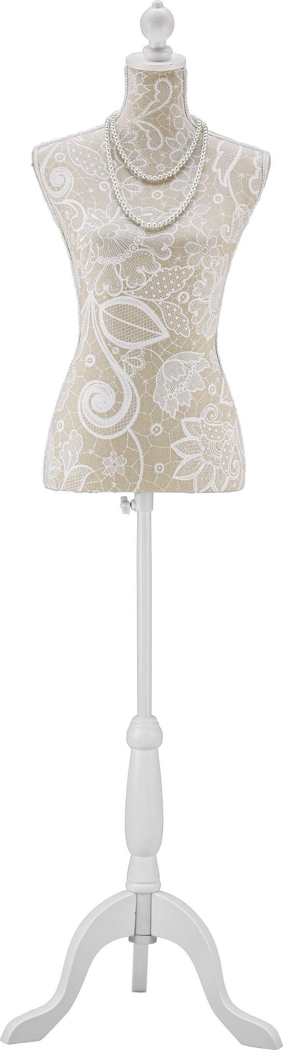 Dekorativna Lutka Mannequin - bela/bež, Romantika, leseni material/tekstil (35/170/21cm) - Mömax modern living