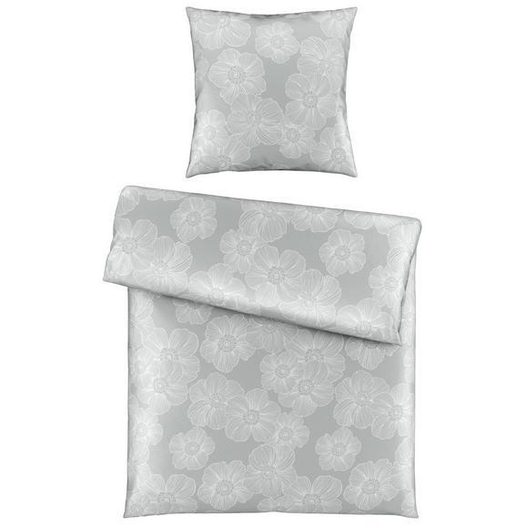 Bettwäsche Elli in Hellgrau ca. 135x200cm - Hellgrau, KONVENTIONELL, Textil (135/200cm) - Mömax modern living