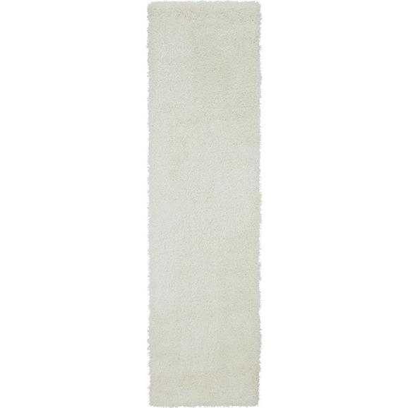 Hochflorteppich Lambada in Weiß ca.80x300cm - Weiß (80/300cm) - Mömax modern living