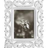 Bilderrahmen Krishna, ca. 12,5x17,5cm - Weiß, ROMANTIK / LANDHAUS, Holzwerkstoff (12,5/17,5cm) - MÖMAX modern living