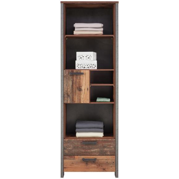 Regal Braun/Dunkelgrau - Dunkelgrau/Schwarz, MODERN, Holzwerkstoff/Kunststoff (67/204,7/41,6cm) - Premium Living