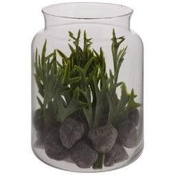 Kunstpflanze Julian in versch. Motiven - Braun/Grau, Glas/Kunststoff (12,5/16cm)