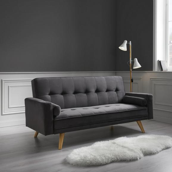 Sofa Bella mit Schlaffunktion - Dunkelgrau, MODERN, Holz/Textil (186/87/82-107cm) - Mömax modern living