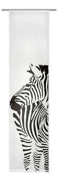 Lapfüggöny Fekete/fehér Zebramintás - fehér, textil (60/245cm) - MÖMAX modern living