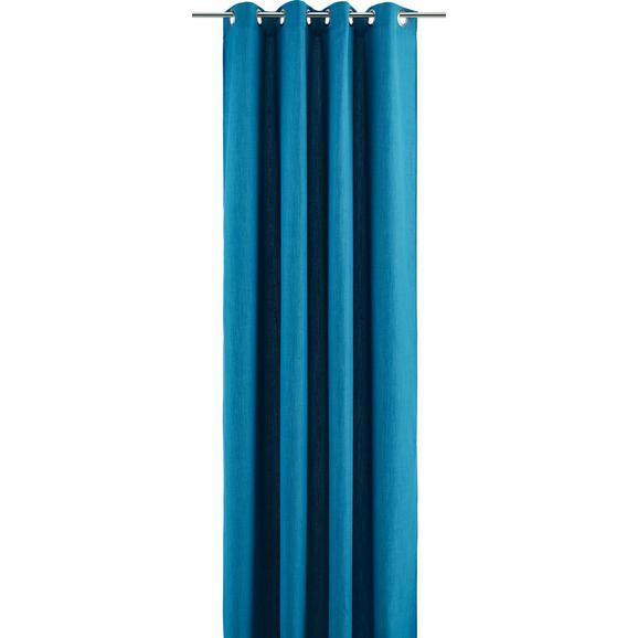 Ösenvorhang Ulli Petrol ca. 140x245cm - Petrol, Textil (140/245cm) - Mömax modern living