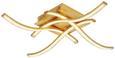 LED-Deckenleuchte Hermine max. 16 Watt - Goldfarben, KONVENTIONELL, Kunststoff (45/45cm) - Modern Living