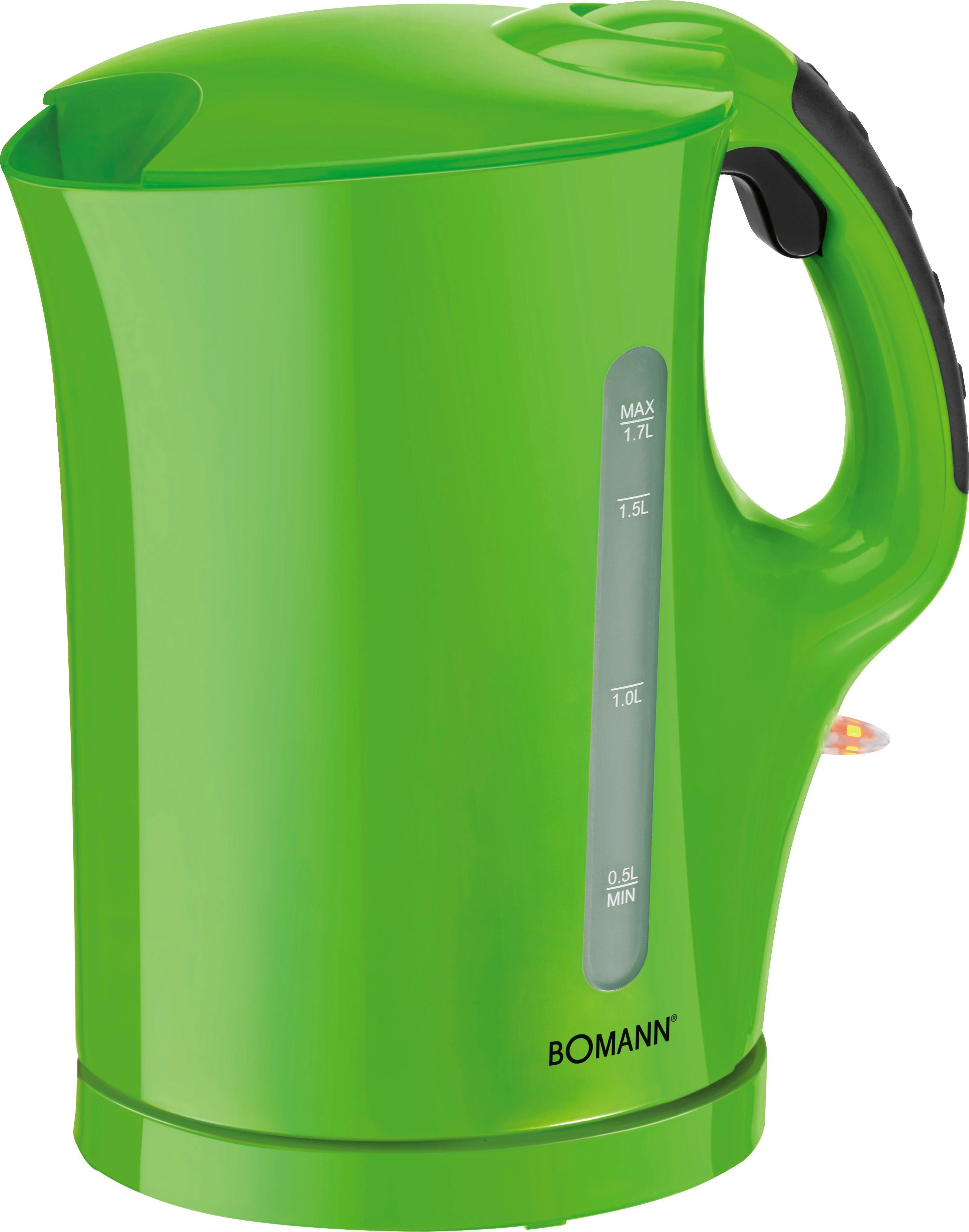 Vízforraló Colour - zöld, műanyag (22,0/25,5/14,0cm) - BOMANN