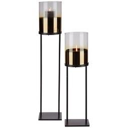 Lámpás Theo - Arany/Fekete, Üveg/Fém (15/60,50cm) - Mömax modern living