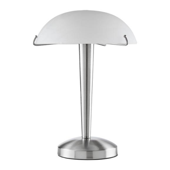 Namizna Svetilka Vinzenz - bela/nikelj, Konvencionalno, kovina/steklo (22/22/33cm) - Mömax modern living