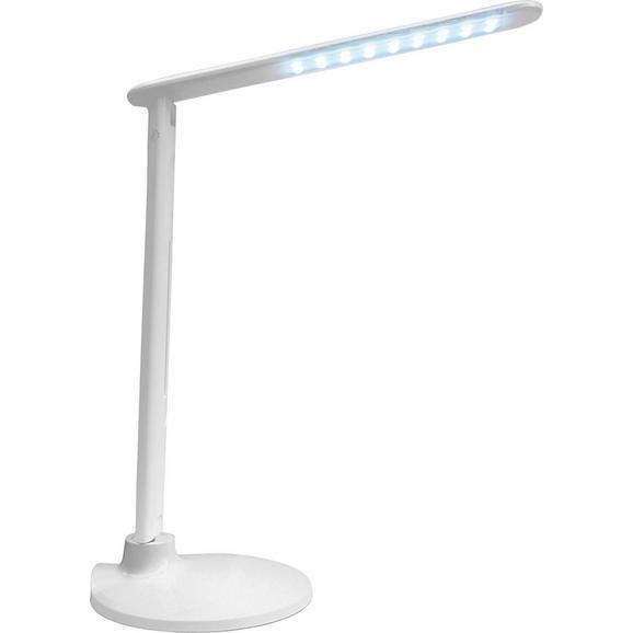 Schreibtischleuchte Sean, max. 5 Watt - Weiß, KONVENTIONELL, Kunststoff/Metall (19/19/47cm) - Mömax modern living