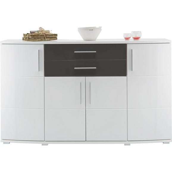 sideboard wei grau hochglanz online kaufen m max. Black Bedroom Furniture Sets. Home Design Ideas