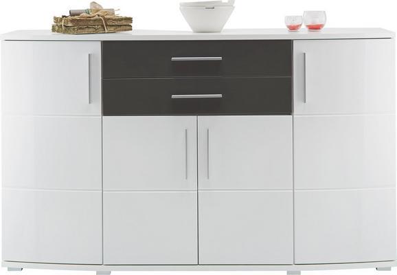 Sideboard Weiß/Grau - Weiß/Grau, MODERN, Holz/Holzwerkstoff (171/102/50cm) - Modern Living