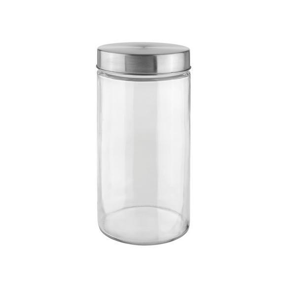 Cutie Alimentară Magnus - 1,45l - clar/culoare inox, Modern, sticlă/metal (11/22cm) - Modern Living