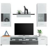 Dnevni Regal Snowflake - bela/temno rjava, Moderno, umetna masa/leseni material (200/185/45cm) - Mömax modern living