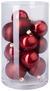 Christbaumkugel-set Cosma Rot - Rot, Glas - Mömax modern living