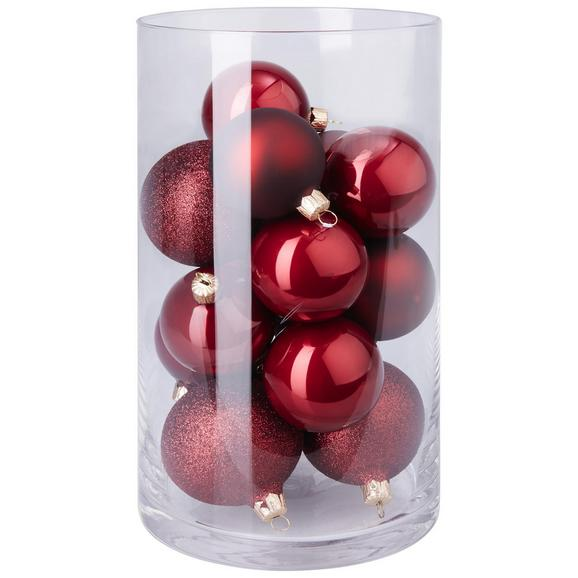 Christbaumkugeln Champagner Glas.Christbaumkugel Set Cosma Rot