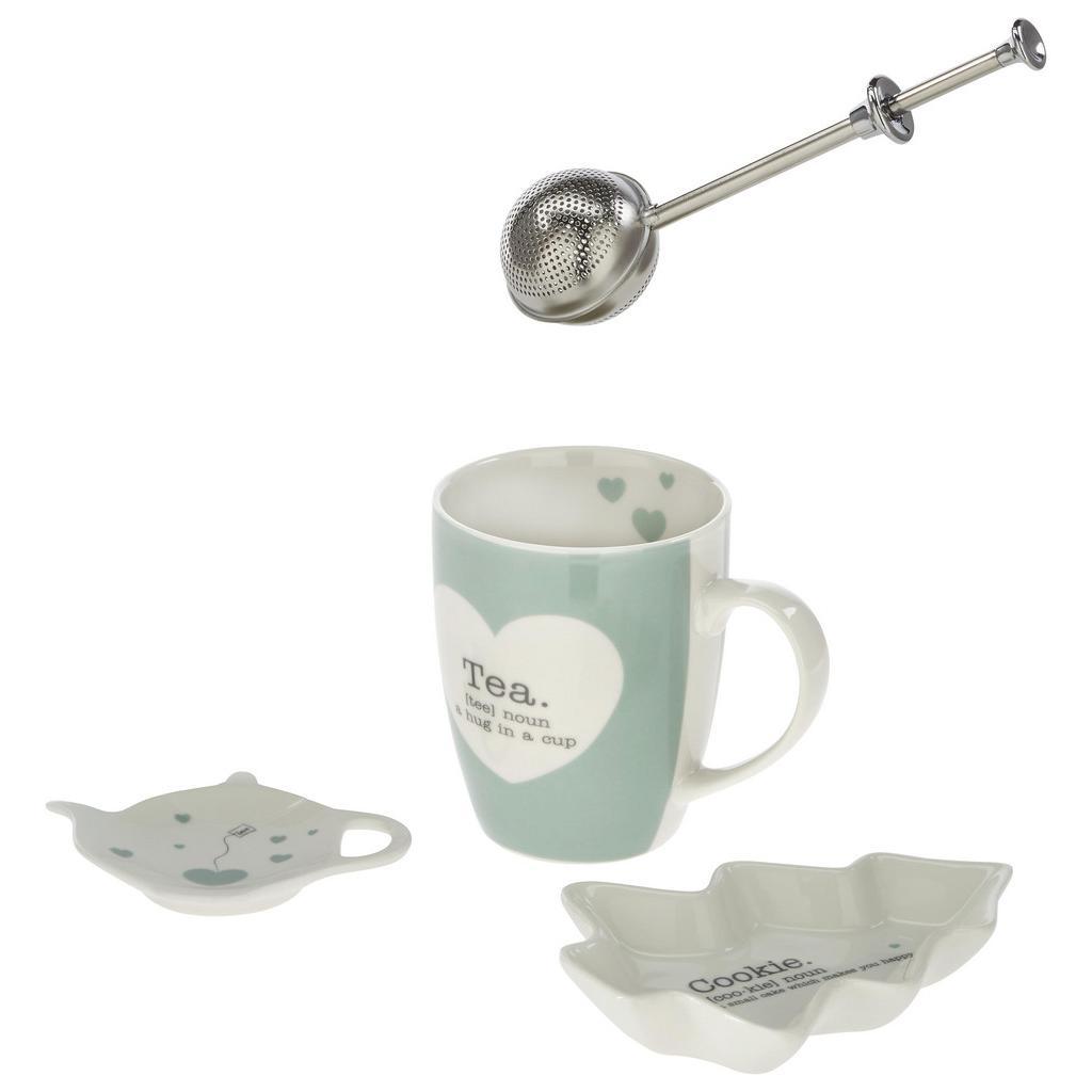 Teeset Hygge aus Keramik, 4-teilig