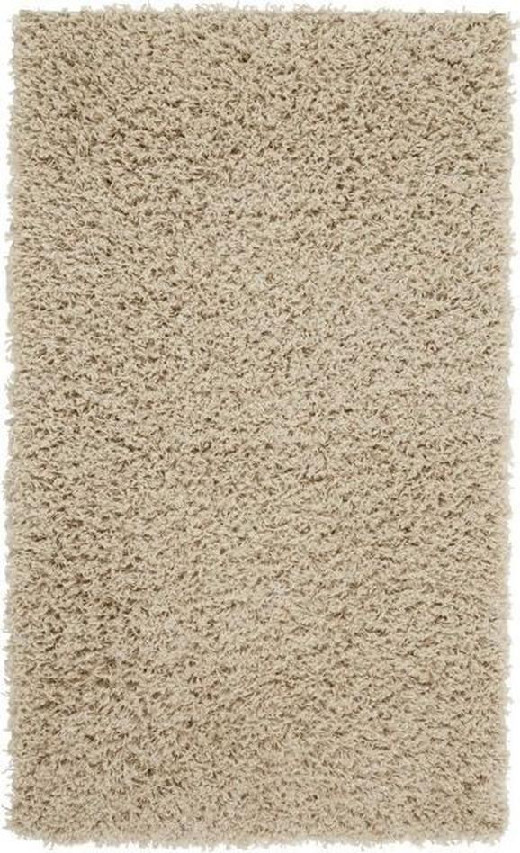 Hochflorteppich Bono 100x150cm - Beige, KONVENTIONELL, Textil (100/150cm) - Based