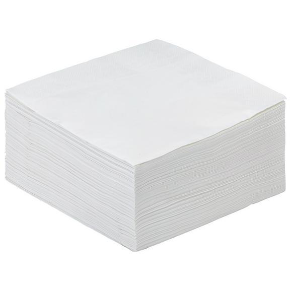 Serviette Kamilla in Weiß 100 Stk. - Weiß, Papier (40/40cm) - Based