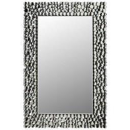 Wandspiegel Silberfarben, ca. 60x90cm - Schwarz/Weiß, MODERN, Glas/Holzwerkstoff (60/90/2cm) - Modern Living