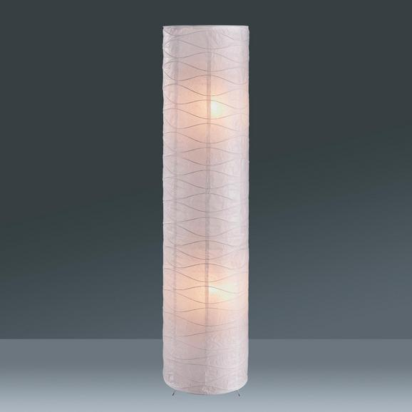 Állólámpa Francesco - Króm/Fehér, konvencionális, Papír/Fém (27,5/120cm) - Based
