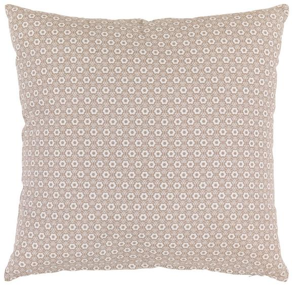 OKRASNA BLAZINA AMELINE - sivo rjava, Romantika, tekstil (45/45cm) - Zandiara