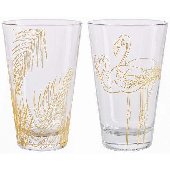 Trinkglas Oro ca. 300ml - Klar/Goldfarben, LIFESTYLE, Glas (8/12,4cm) - Mömax modern living