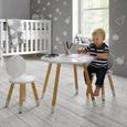 Kinderstuhl Leni - Weiß/Pinienfarben, MODERN, Holz (27,4/51cm) - Bessagi Kids