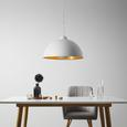 Pendelleuchte Mona - Goldfarben/Weiß, MODERN, Kunststoff/Metall (50/50/150cm) - Bessagi Home